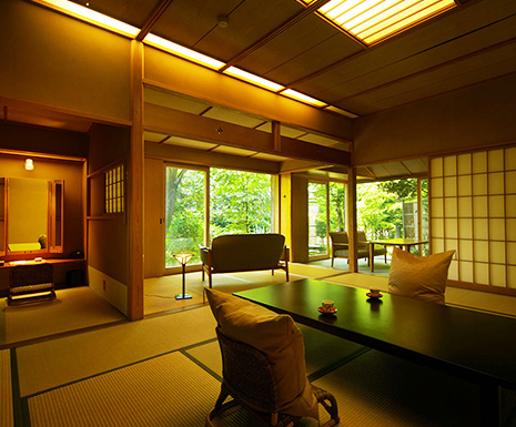 Special rooms with open air bath(100% free-flowing hot-spring) /1room